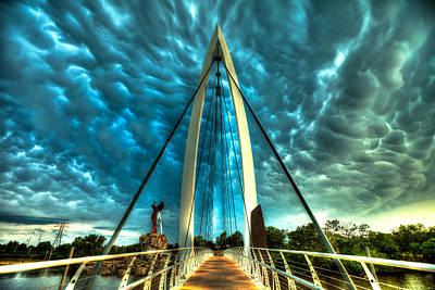 Stormy Bridge Poster by  Caleb McGinn
