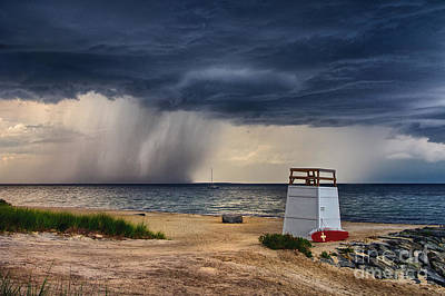 Stormy Seashore Poster by Mark Miller