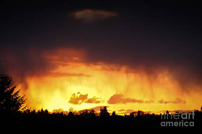Stormy Sunset Poster by Kevin Barske
