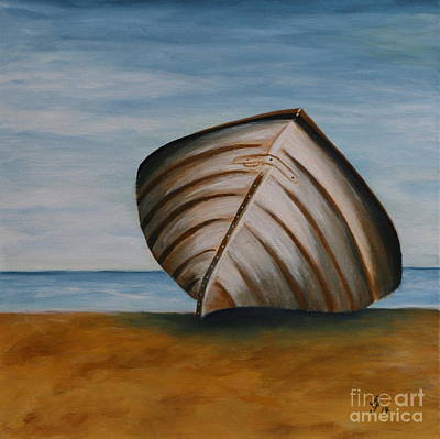 Stranded Boat Poster by Christiane Schulze Art And Photography