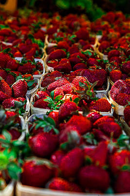Strawberries Poster by Gestalt Imagery