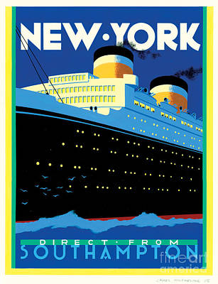 Streamliner Ny Poster by Brian James