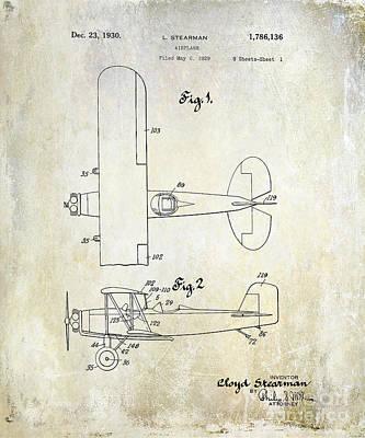 1929 Stearman Patent Drawing Poster by Jon Neidert