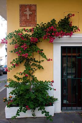 Street Corner In Old San Juan Poster by Frank Tozier