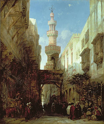 Street In Cairo, 1846 Poster by David Roberts