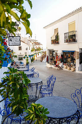 Street Of Mijas Poster by Tetyana Kokhanets