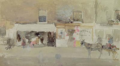 Street Scene In Chelsea Poster by James Abbott McNeill Whistler
