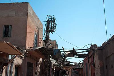 Street Scenery In The Medina Of Marrakech Poster by Frank Gaertner