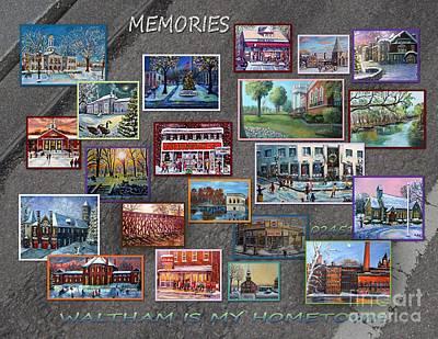 Streets Full Of Memories Poster by Rita Brown