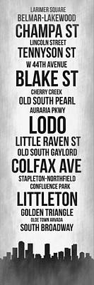 Streets Of Denver 4 Poster by Naxart Studio