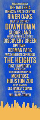 Streets Of Houston 3 Poster by Naxart Studio