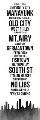 Streets Of Philadelphia 3 Poster by Naxart Studio