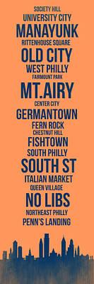 Streets Of Philadelphia 4 Poster by Naxart Studio