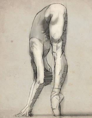 Stretch En Pointe Poster by H James Hoff