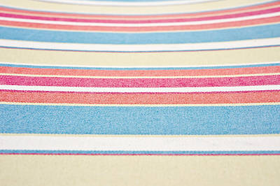 Striped Fabric Poster by Tom Gowanlock