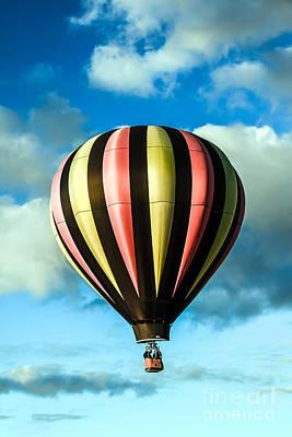 Stripped Hot Air Balloon Poster by Robert Bales