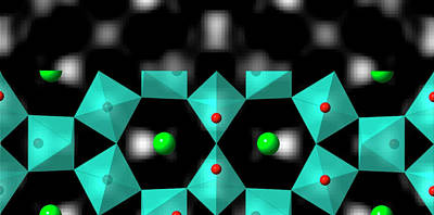 Strontium Titanate Surface Poster by Lawrence Berkeley National Laboratory