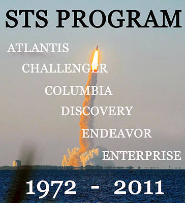 Sts Program Space Shuttles Poster by David Lee Thompson