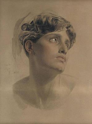 Study For Antigone Poster by Frederick Sandys