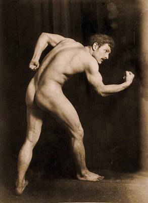Study Of A Male Nude Poster by Wilhelm von Gloeden