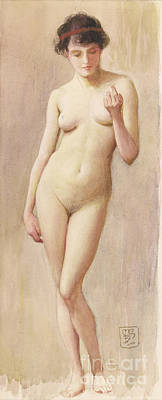 Study Of A Nude II Poster by Murray Bladon