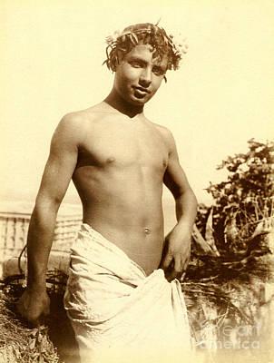 Study Of A Young Boy In Naples Poster by Wilhelm von Gloeden