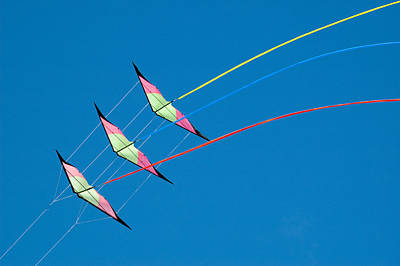 Stunt Kite At The Windscape Kite Festival 2011 Poster by Rob Huntley
