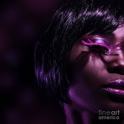 Stylish Black Woman Poster by Anna Omelchenko