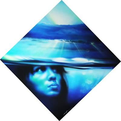 Portrait - ' Submersion ' Poster by Christian Chapman Art