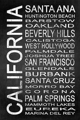 Subway California State 1 Poster by Melissa Smith