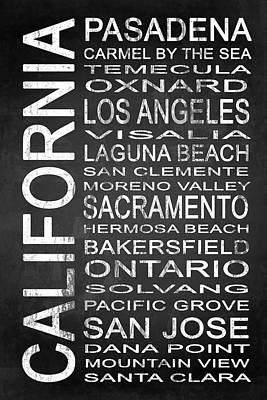 Subway California State 2 Poster by Melissa Smith