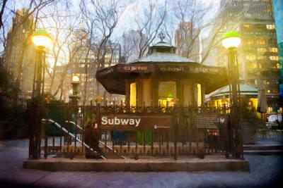 Subway Dream Poster by Emmanouil Klimis