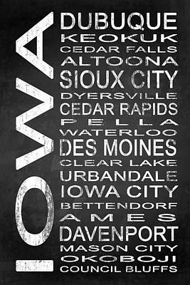 Subway Iowa State 1 Poster by Melissa Smith