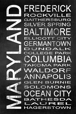 Subway Maryland State 1 Poster by Melissa Smith