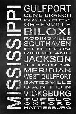 Subway Mississippi State 1 Poster by Melissa Smith