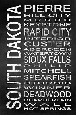Subway South Dakota State 1 Poster by Melissa Smith