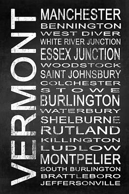 Subway Vermont State 1 Poster by Melissa Smith