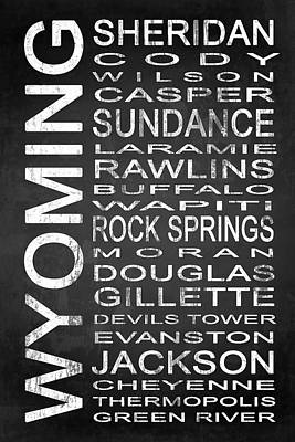 Subway Wyoming State 1 Poster by Melissa Smith