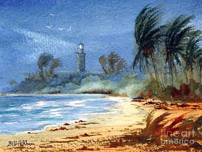 Sudden Storm Faro De Punta Tuna Poster by Bill Holkham