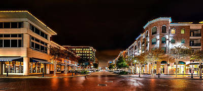 Sugar Land Town Square Poster by David Morefield