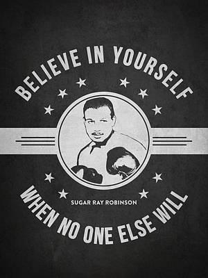 Sugar Ray Robinson - Dark Poster by Aged Pixel