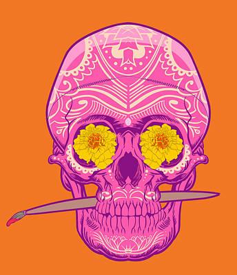 Sugar Skull 2 Poster by Nelson Dedos Garcia