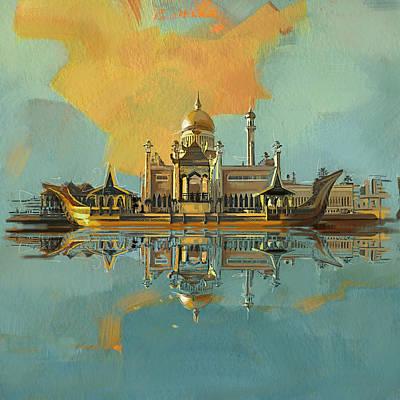 Sultan Omar Ali Saifuddin Mosque Poster by Corporate Art Task Force