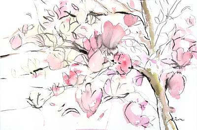 Sumie No.14 Magnolia Poster by Sumiyo Toribe