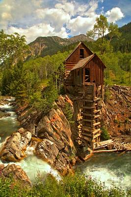 Summer At Crystal Mill Poster by Adam Jewell