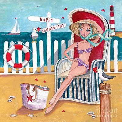 Summer Beach  Poster by Caroline Bonne-Muller