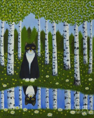 Summer Cat Poster by Veikko Suikkanen