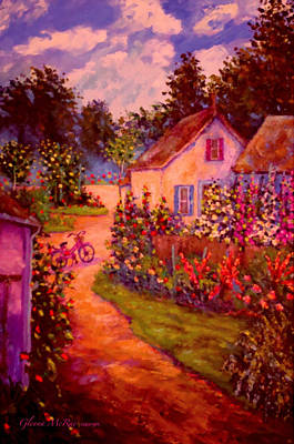 Summer Days At The Cottage Poster by Glenna McRae
