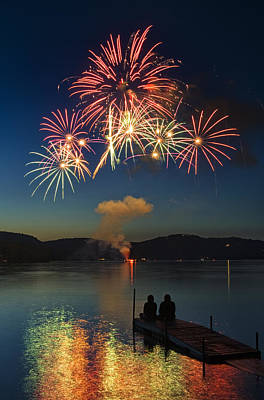 Summer Fireworks Poster by Darylann Leonard Photography