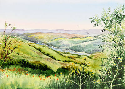 Summer Landscape Inspiration Point Orinda California Poster by Irina Sztukowski